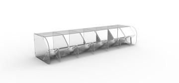 cubox dispenser di idea style in plexiglass per alimenti